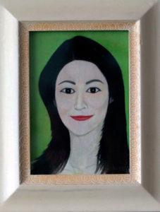 るり子 油絵 13cmx18cm