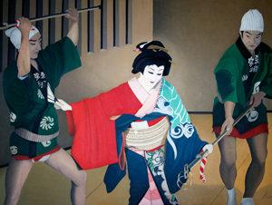 神田まつり (からみ)油絵 76cmx102cm