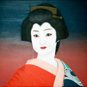 神田まつり (まつりの後で) 油絵 4cmx46cm