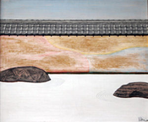 石庭 油絵 60x70cm
