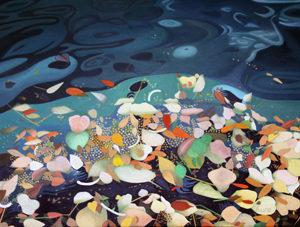 潮だまり (春)油絵 76cmx102cm